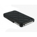 Verus Premium J+P Nubi Leather Bar for iPhone 4, 4S (Black)