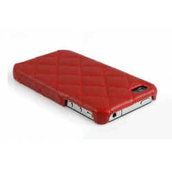 Verus Premium J+P Nubi Leather Bar for iPhone 4, 4S (Red)