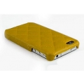 Verus Premium J+P Nubi Leather Bar for iPhone 4, 4S (Yellow)