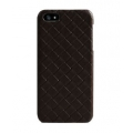 Verus Premium J Case Quilt Genuine Leather Case for iPhone 5, 5S, Black