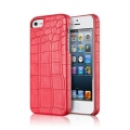 Verus Crocodile Back Case for iPhone 5, 5S - Red