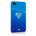 White Diamonds Rainbow Blue for iPhone 4, 4S (110RAI44)