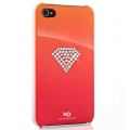 White Diamonds Rainbow Red for iPhone 4, 4S (110RAI42)
