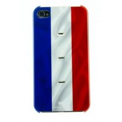 White Diamonds Flag France for iPhone 4, 4S (1110FLA02)