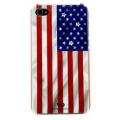 White Diamonds Flag USA for iPhone 4, 4S (1110FLA06)