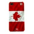 White Diamonds Flag Canada for iPhone 4, 4S (1110FLA)