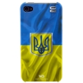 White Diamonds Flag Ukraine for iPhone 4, 4S (1110FLA07)