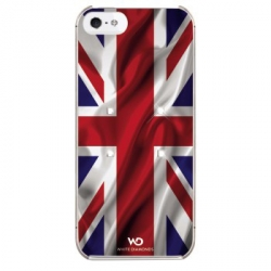 White Diamonds Flag UK for iPhone 5, 5S (1210FLA05)