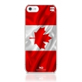 White Diamonds Flag Canada for iPhone 5, 5S (1210FLA08)