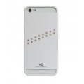 White Diamonds Materialized Metal Stream White for iPhone 5, 5S (1210MMSTR47)
