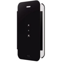 White Diamonds Crystal Booklet Black for iPhone 5, 5SC (1221TRI6)