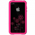 XtremeMac Microshield Tatu for iPhone 4 - Pink/Flower (XTM-IPP-MT4-33)