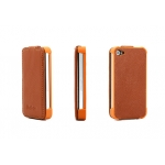 Yoobao Slim Leather Case Brown for iPhone 4