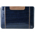 Zenus iPad 4, iPad 3, iPad 2 Leather Case Prestige Italian Hand Crafted Pouch Series - Royal Navy