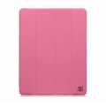 Zenus Prestige Folio Smart Cover Series for iPad 4, iPad 3, iPad 2 - Pink