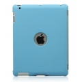 Zenus Synthetic Leather Smart Match Back Cover for iPad 4, 3, 2 - Blue