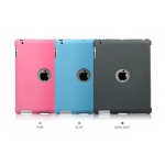 Zenus Synthetic Leather Smart Match Back Cover for iPad 4, 3, 2 - Grey