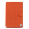 Zenus Synthentic Leather Color Point Diary for iPad Mini - Orange