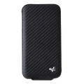 Zenus iPhone 4 Carbon Leather Case Folder Black (IPHONE4GLFD01C)