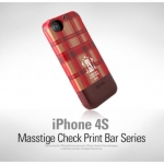 Zenus Check Print Bar Series for iPhone 4, 4S (Cinnamon)