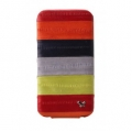 Zenus Prestige Eel Leather Folder Series for iPhone 4, 4S (Multi Red)