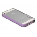 Zenus Walnutt Trio Case Series for iPhone 5, 5S - Pink&Violet