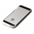 Zenus Walnutt Trio Case Series for iPhone 5, 5S - White&Dark Grey