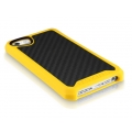 ITSkins Atom Matt Carbon for iPhone 5, 5S - Yellow (APH5-ATMCA-YELW)
