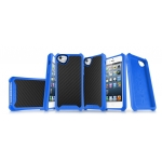 ITSkins Atom Matt Carbon for iPhone 5, 5S - Blue (APH5-ATMCA-BLUE)