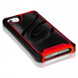 iTSkins Fusion Alu Core for iPhone 5, 5S - Red