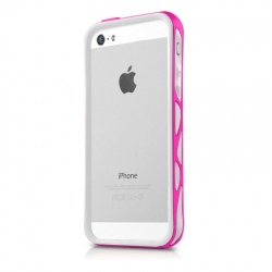 ITSkins Venum for iPhone 5, 5S - White/Pink (APH5-VENUM-WHPK)